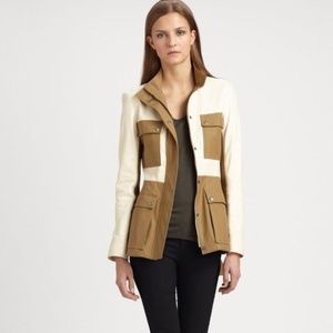Theory Women's Natural Macaire Leather and Cotton